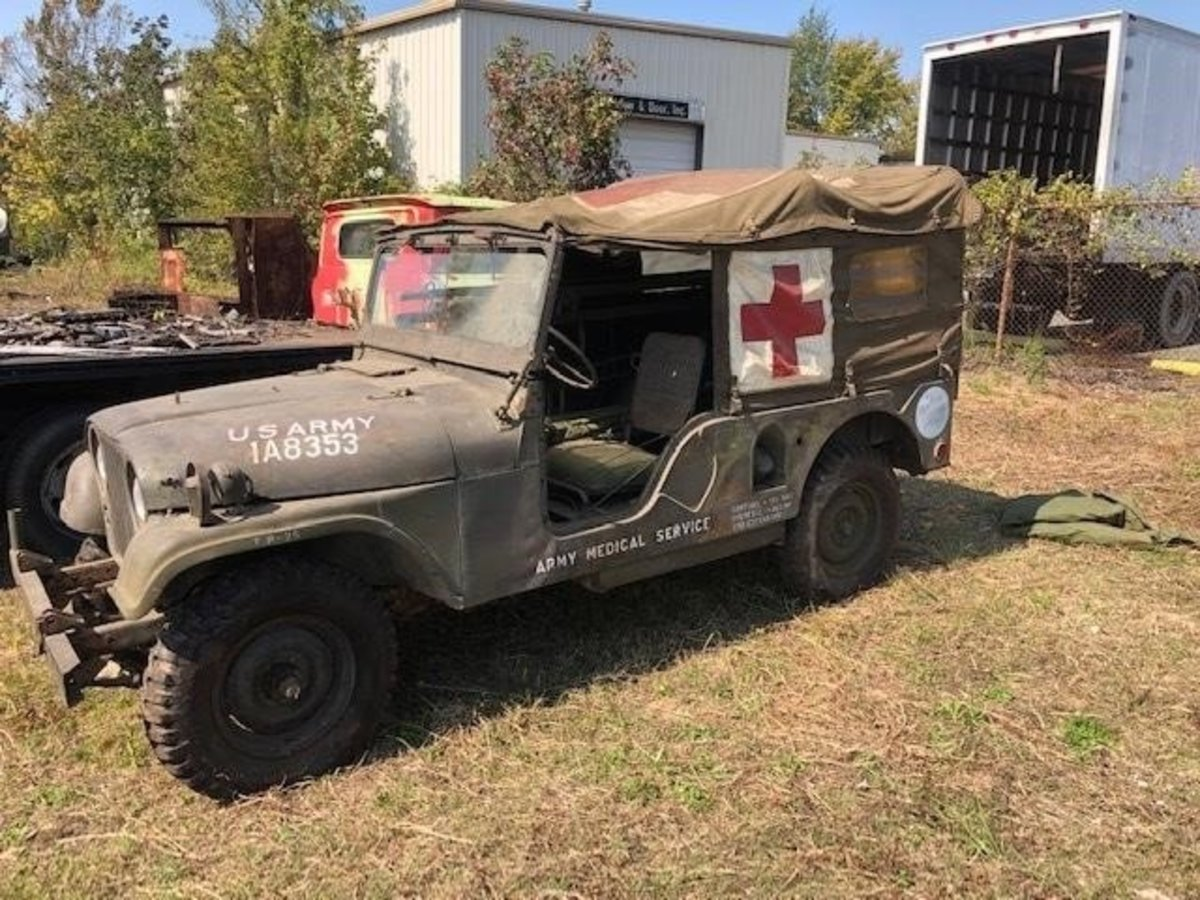 Lot 4. 1950s M170 1/4-ton Jeep Ambulance. Sold for $4,400.
