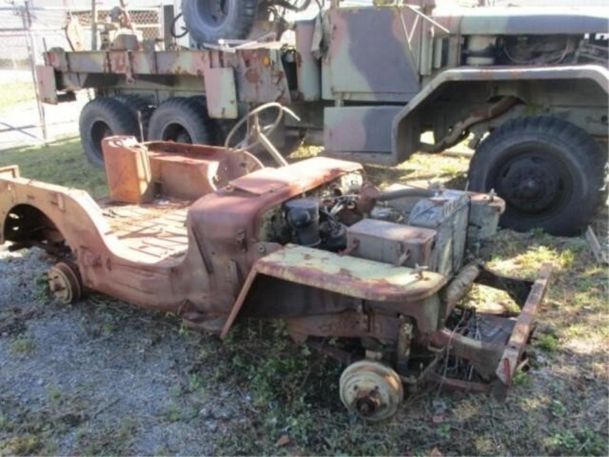 Lot 3. MB Jeep Parts Body. Sold for $1,000.
