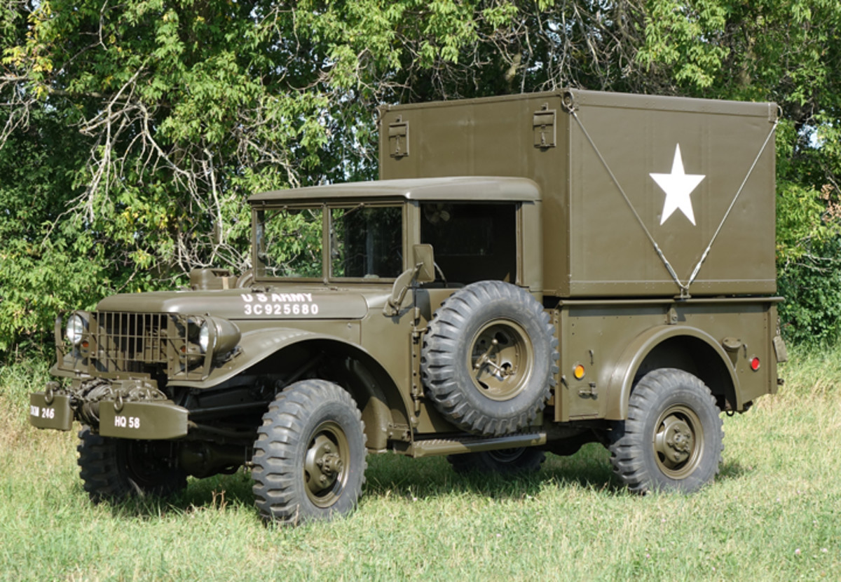 1963 M37B1 with communications shelter restored by Don Meinhardt