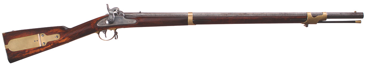 Made by E. Remington, Herkimer, New York, ca. 1846-1854. Three contracts totaling 20,000 rifles.