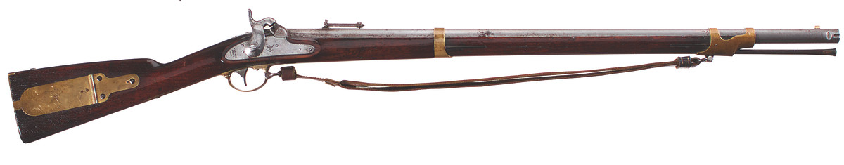 """U.S. Model 1841 percussion rifle, .54 caliber, Harpers Ferry first (""""Snell"""") alteration, 1854-1855"""