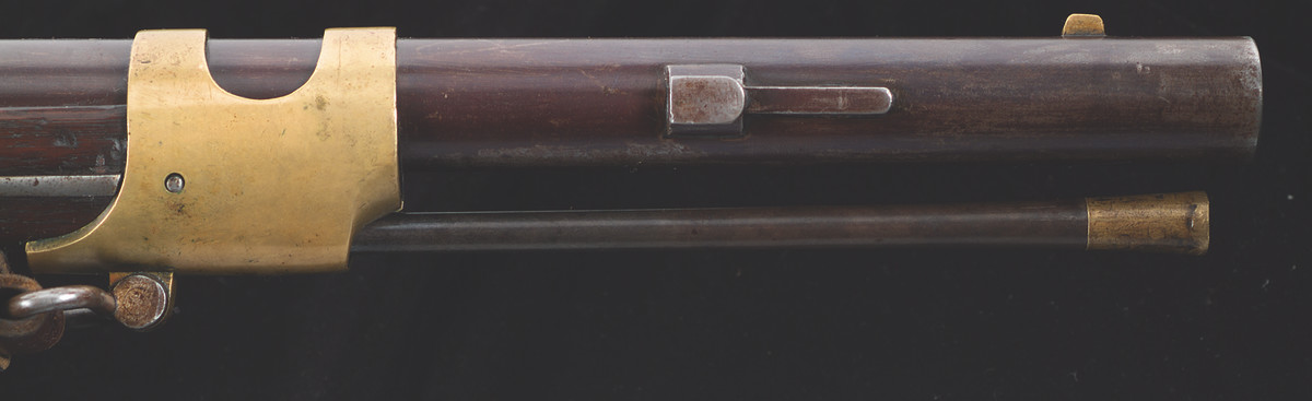 During 1855-1856, Harpers Ferry altered 250 rifles to accept the second style saber bayonet.