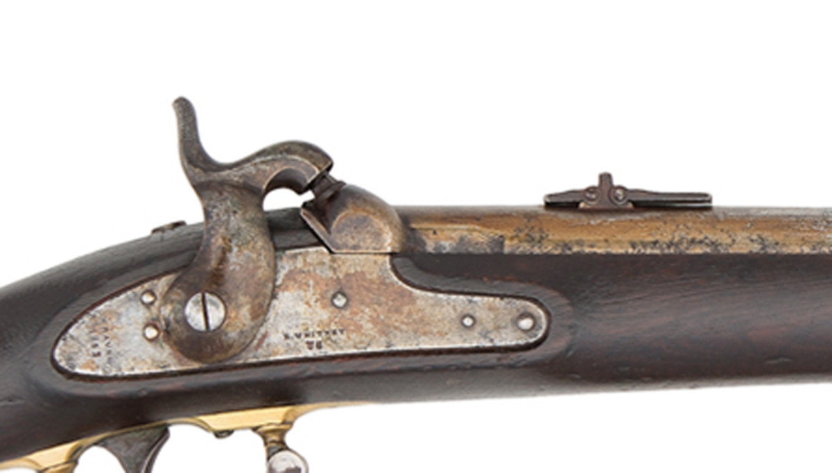 Colt resighted each with the Colt New Model 1855 revolving rifle pattern rear sight