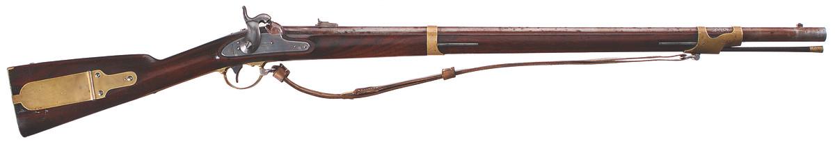 U.S. Model 1841 percussion rifle, .54 caliber, Massachusetts (Drake) alteration, 1862