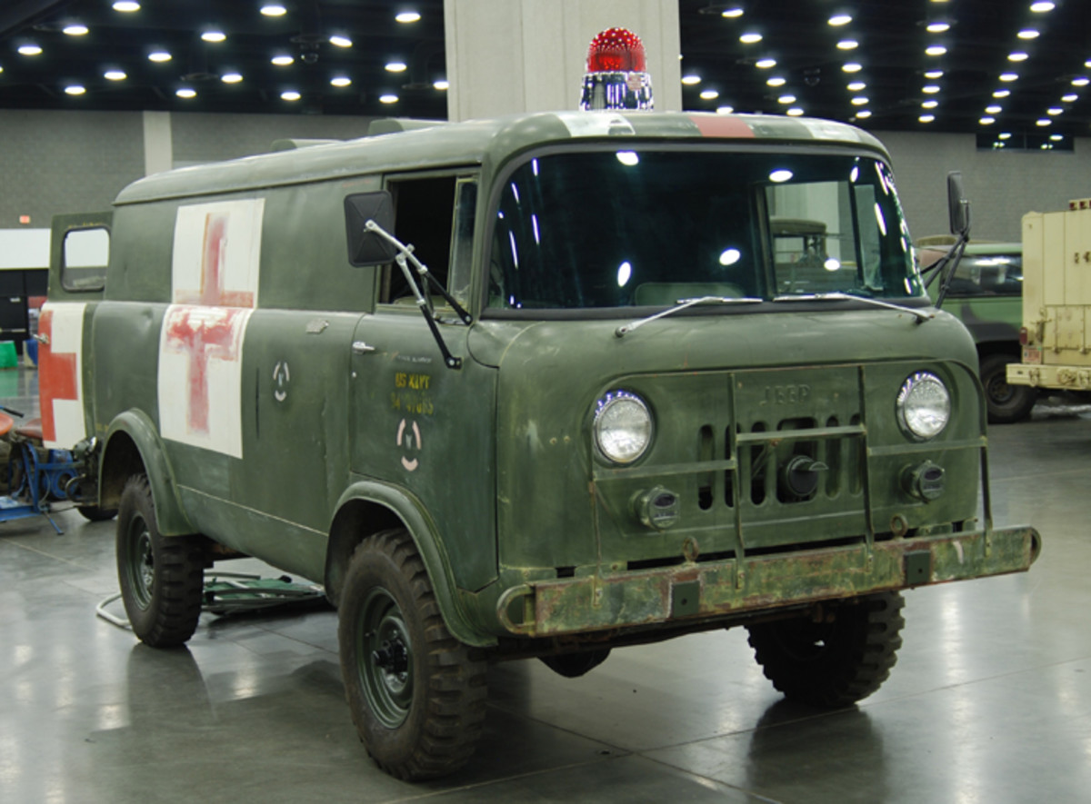 """Made by Willys Kaiser, the M679 is a Jeep mostly in name: """"Forward Control Jeep."""" This original condition ambulance is owned by Terry Dow."""