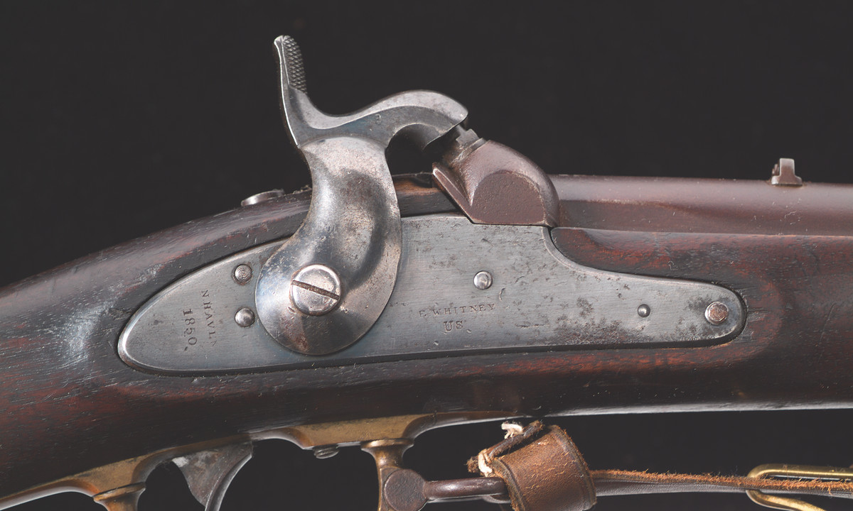 Whitney lockplate. Type IIs were Whitney-assembled rifles.