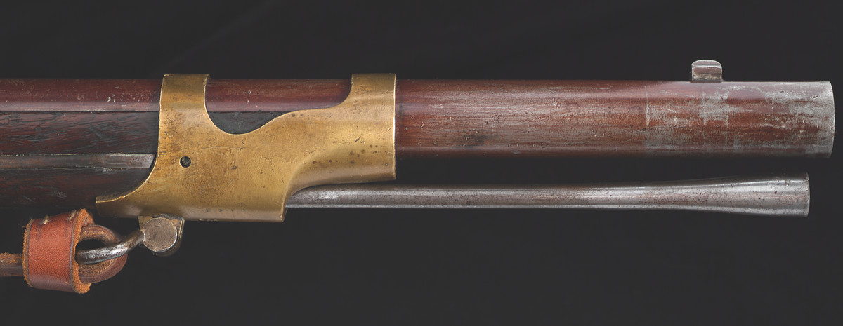 The rifles that Allen & Morse converted to the Lindner system were Drake-altered rifles. Other alterations included a new rear sight and combination bayonet stud / blade front sight to accept the Drake-style socket bayonet..