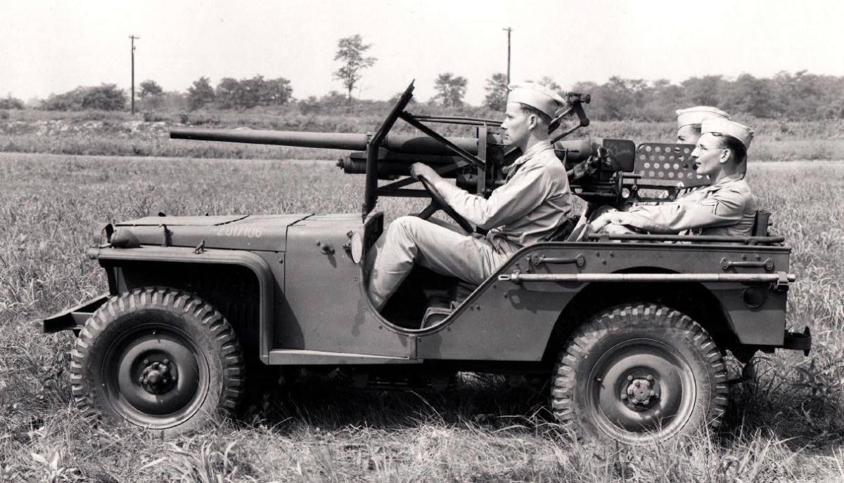 A 37mm gun mounted on a BRC-40