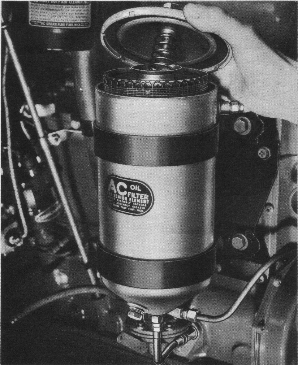 If you have just acquired an HMV with a bypass oil filter — such as this Military Standard Senior on a CCKW — and/or have had no previous experience with this type, you'll find that servicing is rather messy compared to the spin-on full-flow filter on your civilian car or truck. Have plenty of clean rags or paper towels on hand.