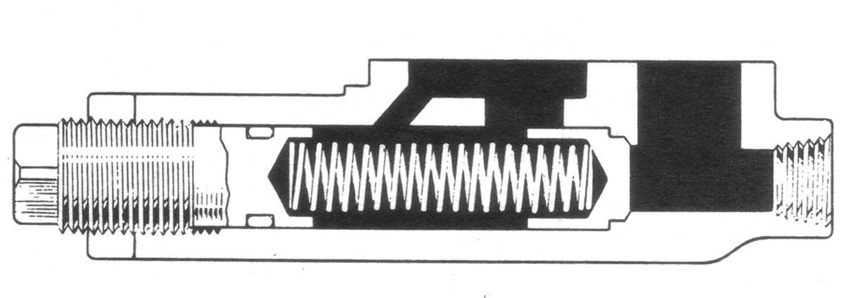 There is a usually a spring-loaded valve on or near the oil pumps in the engines of most common HMVs, and its function is to prevent too much oil pressure in the system. This valve is calibrated to let oil bypass back into the crankcase if the pressure becomes too great. More is not always better, because too much oil pressure can damage front and rear crankshaft seals, letting oil leak onto the clutch, and leave your engine low on oil out on the road. Occasionally this valve may become jammed, especially on vehicles that haven't received proper maintenance and regular oil changes. It's not a good idea to try to increase your vehicle's oil pressure by stretching the spring in this valve or by adding washers to it.