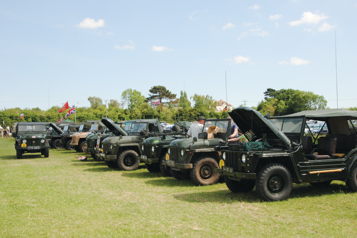 This is only part of the line-up of the Champ Owners Club who attended the 2017 Wartime in the Vale Show. This is a very friendly club and this informal gathering allows owners to chat, swap stories and exchange tips.
