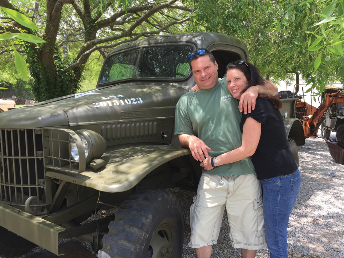 When David Austin couldn't find an original hood number during the restoration of his 1941 WC-12, he decided to create a number that would have special — the date of the day that he met his future wife, Michele.