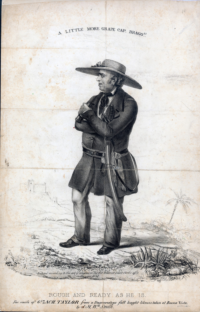 Engraving of Zachary Taylor based on a daguerreotype taken on the field by J.H. Wm. Smith