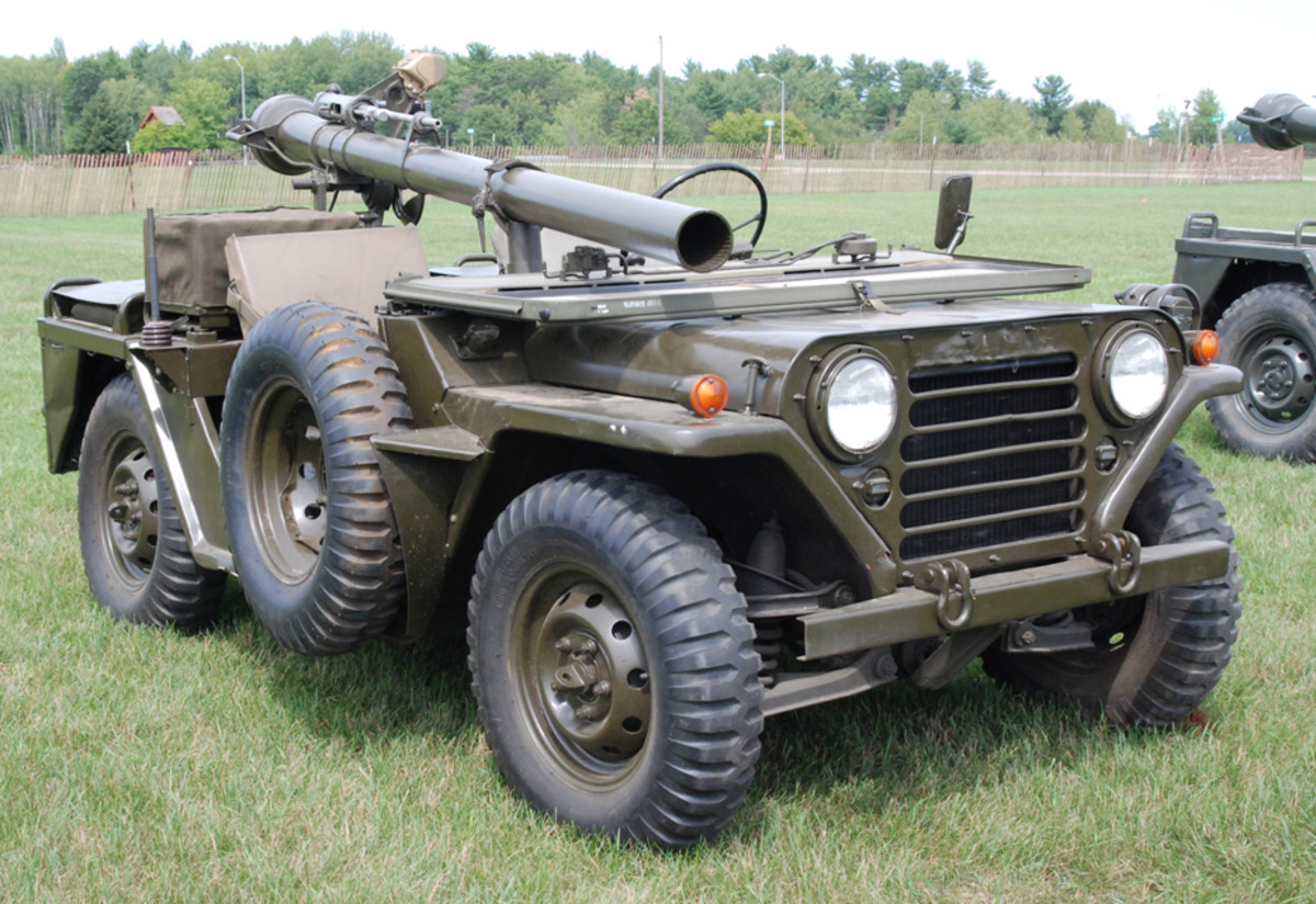 The M151A1C Weapons Platform was a specially modified M151A1 1/4 ton jeep, revised to accommodate the M40 106mm Recoilless Rifle on an M79 mount.