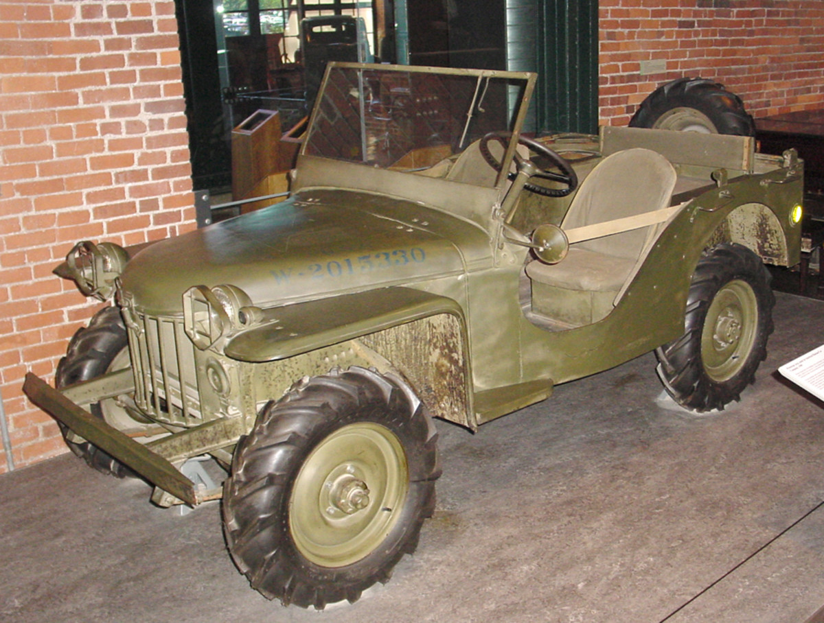 """Known as the Bantam """"Mark II"""" or BRC-60, this particular serial number """"7,"""" is the earliest surviving Jeep of any kind. Rescued from an Army junkyard and then restored, it was photographed while on loan from the Smithsonian Institution to the Pittsburgh Regional History Center."""