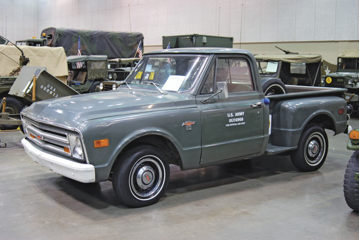 US Army 1968 Chevrolet half-ton pick-up, owned by Harry Stokes