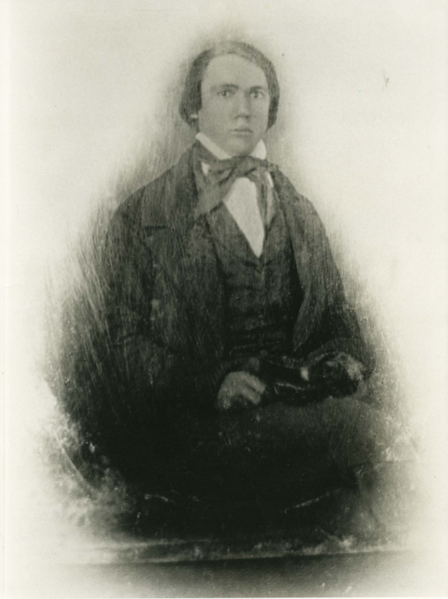 James Eaton from a daguerreotype taken around the time he left his home in Illinois for the gold fields of California in 1849.