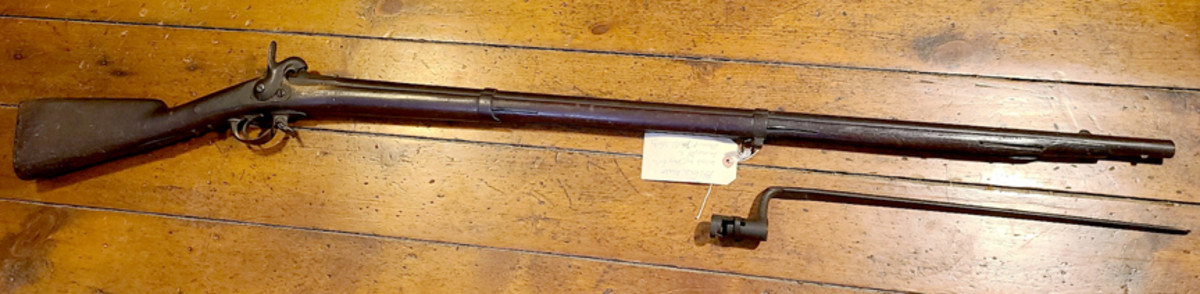 """Purchased on through an online auction, the """"attic-condition"""" Model 1840 French musket was typical of Civil War import long arms. At the time it was purchased, the history of the musket's 19th century owner were unknown."""