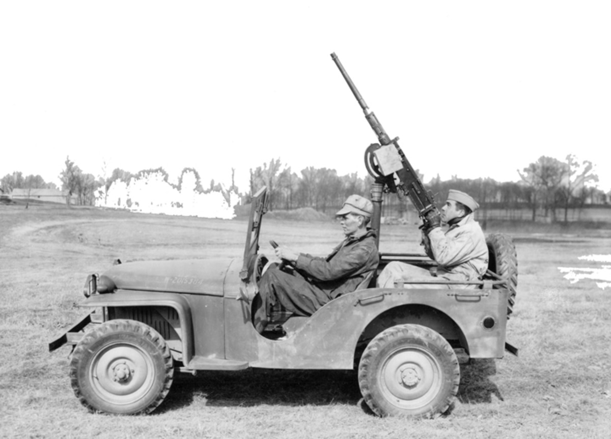 Figure 1. Work developing a means of arming the ¼-ton trucks began almost as soon as the vehicles were in the Army's inventory.