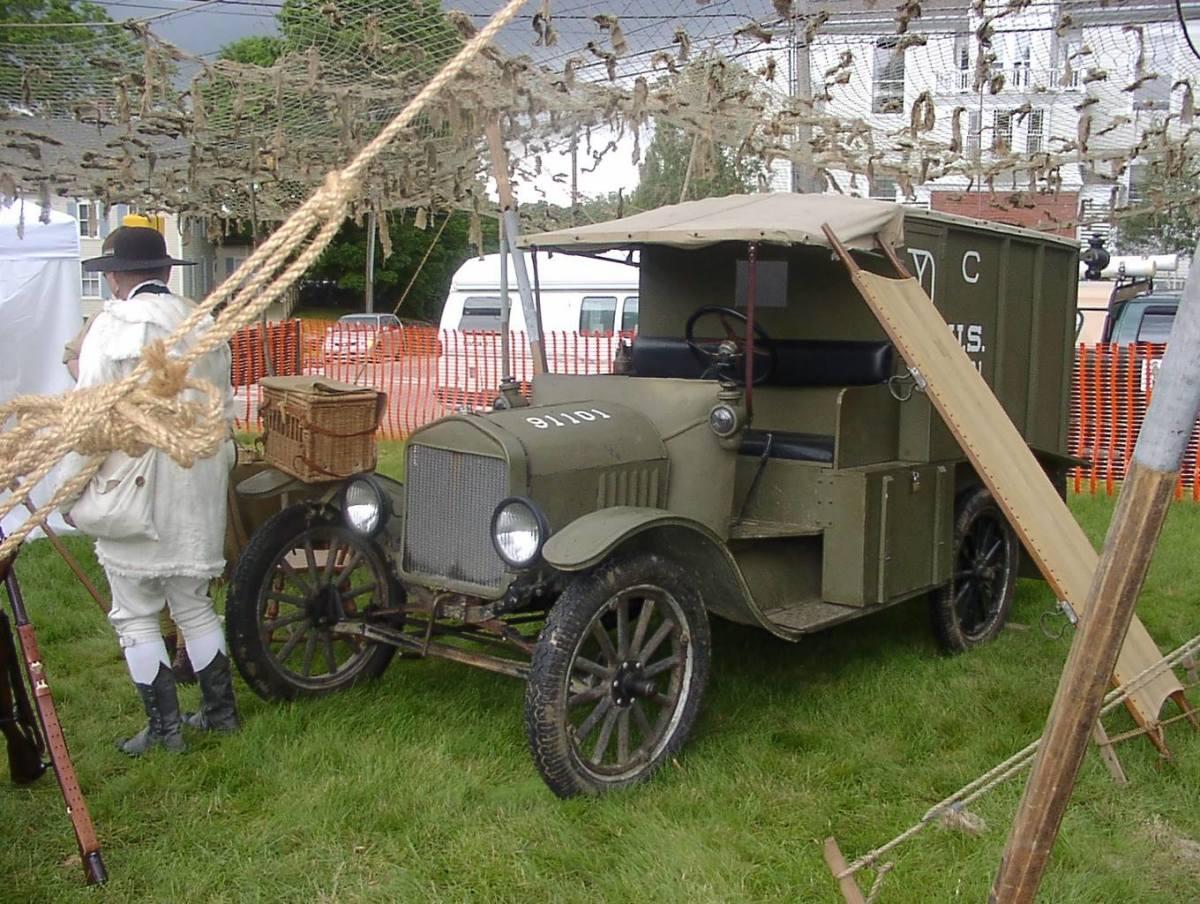 Allan Michael Crane's recreated Model 1917 Ford machine gun truck.