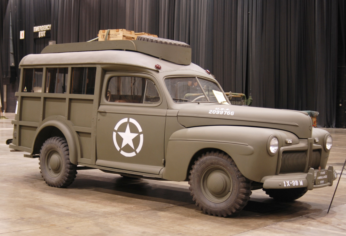 Mike Nickels' 1944 Auxiliary Ambulance was built by Ford and Shult Trailers.