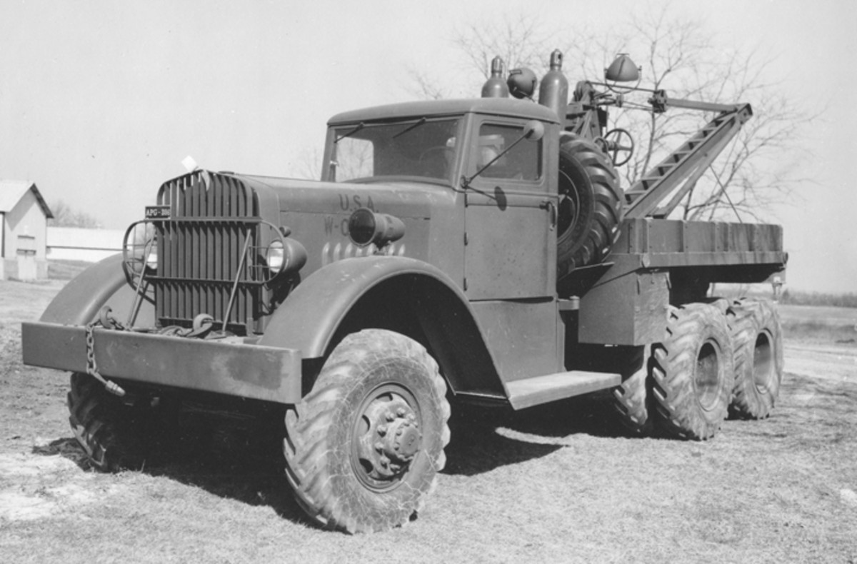 This is one of the two test examples of the famed Ward LaFrance M1 wrecker. This photo of the earliest production was taken March 18, 1941.