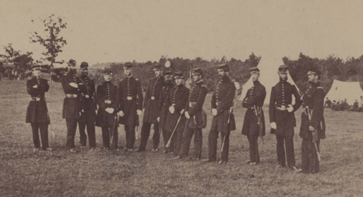 Officers of the 2nd Massachusetts at Camp Andrew nearWest Roxbury, Massachusetts, in 1861.