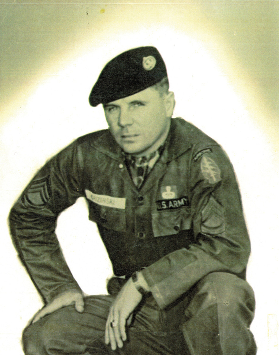SFC Leanard Guzinski, Sr., circa 1960 when he was a Green Beret in Laos with White Star Mobile Training Team.