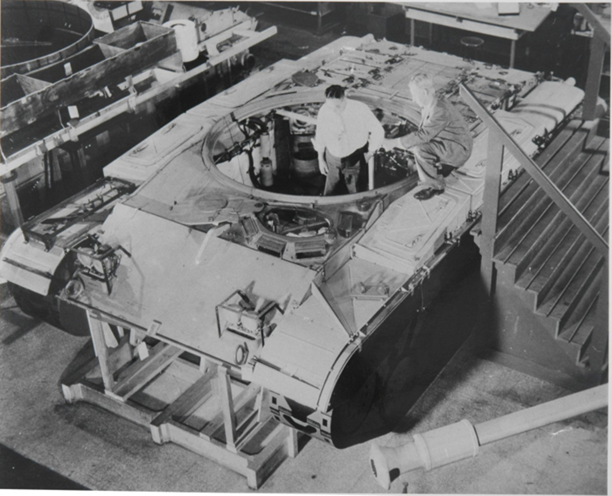 Testing of the three T41 prototypes revealed several deficiencies. One of the changes was an increase in turret ring diameter from 69 to 73 inches.