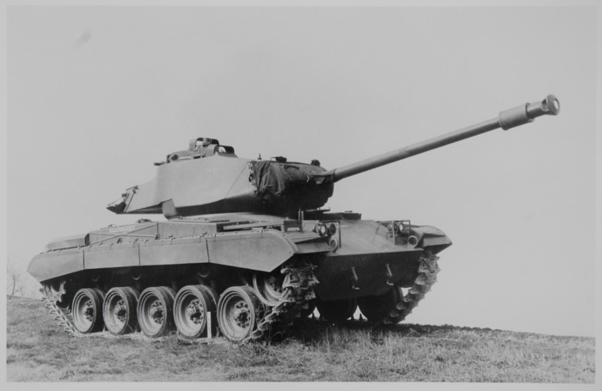 Fitted with the larger turret ring and new turret, the tank was designated T41E1. A contract to produce these vehicles was awarded to the Cadillac Division of General Motors, who began production in the Cleveland Tank plant, a remodeled WWII-era Fisher B-29 plant.
