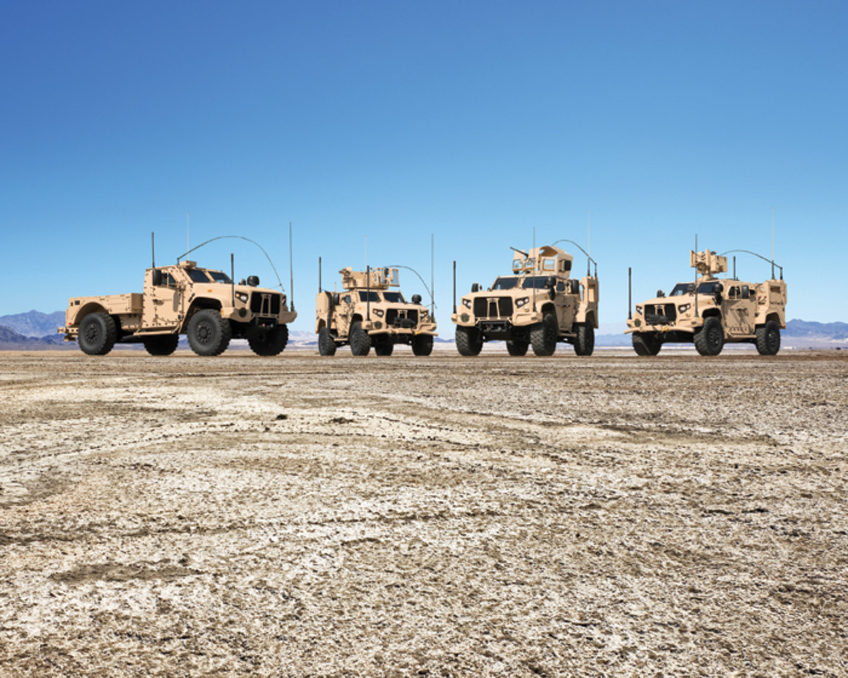 Different JLTV configurations that are available to the Army.