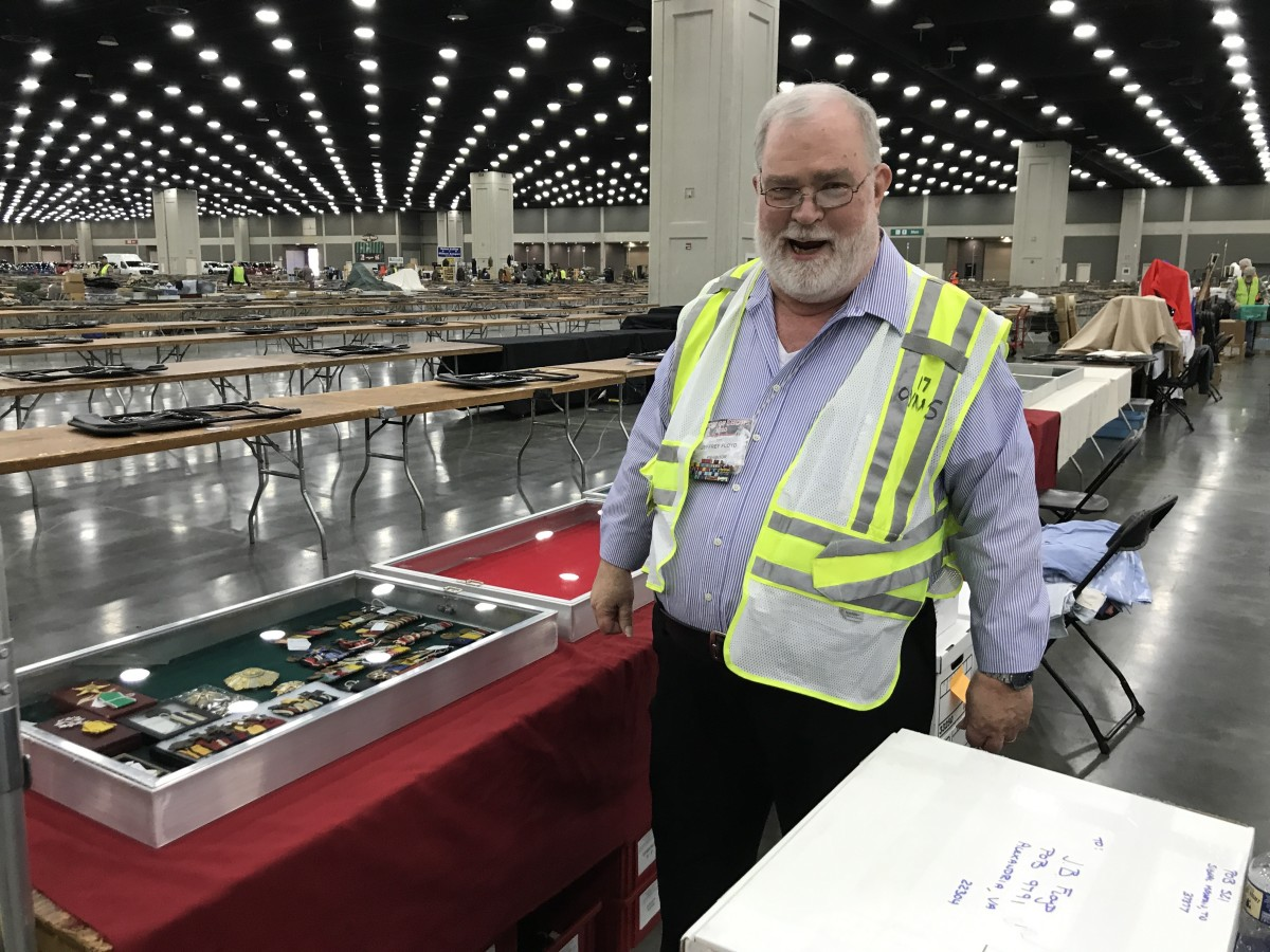 Another favorite medal dealer of mine is Jeff Floyd.  You won't find a nicer guy at the show. And what he knows about medals would fill volumes. He is a quality dealer and a quality guy.