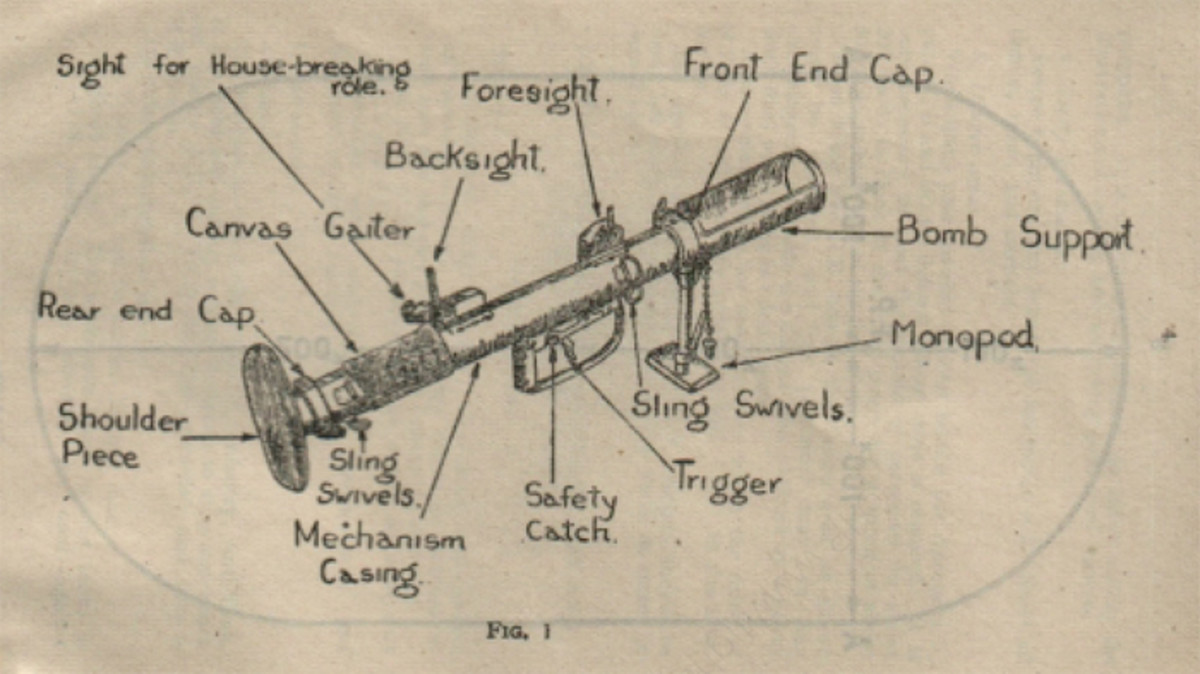 The manual highlights the features of the PIAT Gun.