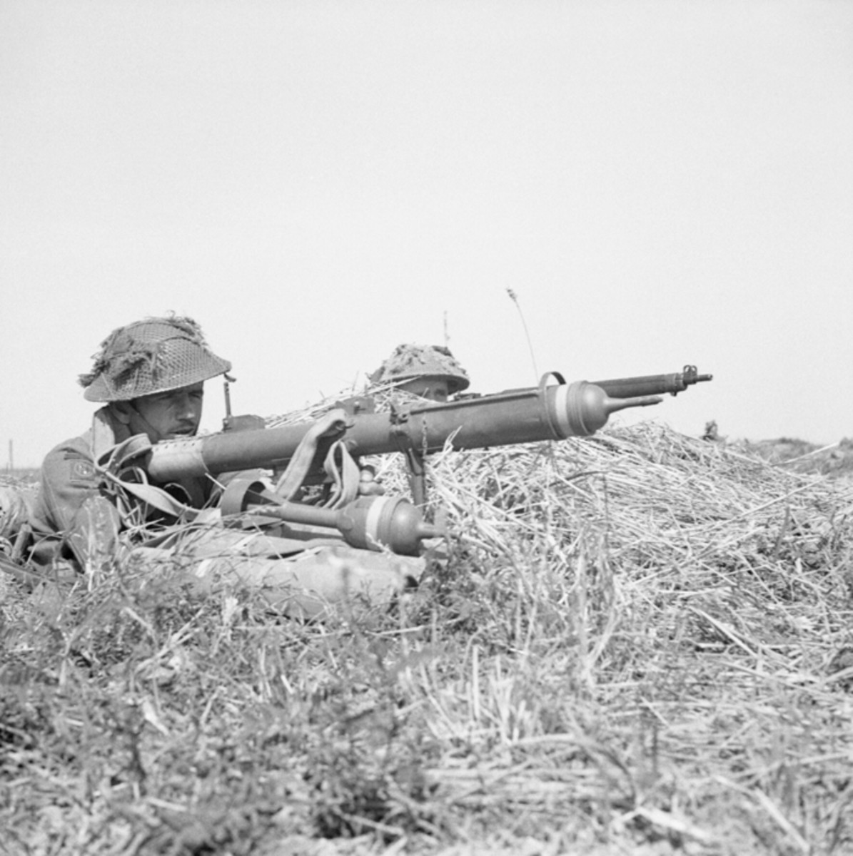 The Projector, Infantry, Anti Tank (PIAT) Mk I was a British man-portable anti-tank weapon developed in 1942. The weapon was a response to the British Army's need for a more effective infantry anti-tank weapon. It entered service in 1943 and continued in use well into the 1950s.