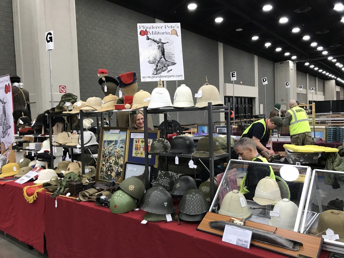 Our own MT author, Peter Suciu, puts out a great variety of world headgear and militaria.