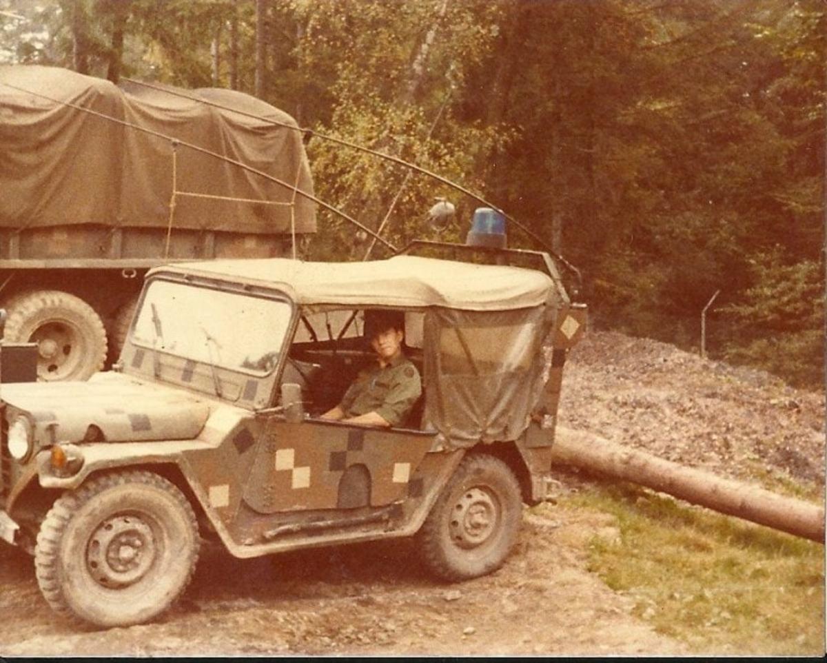 3/2 CAV M151A2 in Dual-Tex photographed at Border Camp Reed, Roetz, Bavaria. Courtesy of Chuck Jaekel