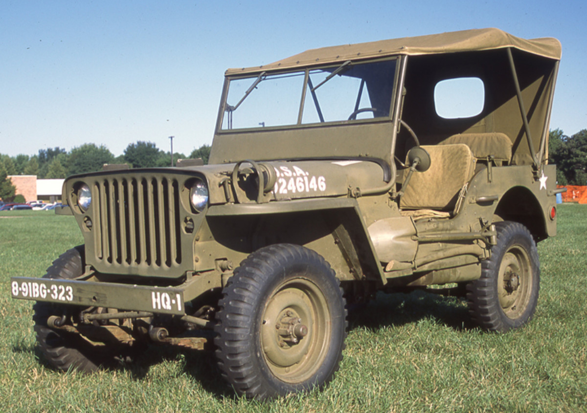 "Willys MB with ""stamped grille,"" date of delivery: 11-21-1942. Restored by Ralph Doubek"