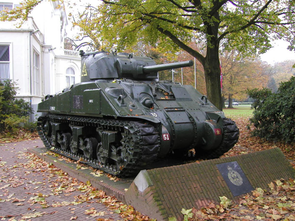 While the tanks didn't roll into Arnhem until April 1945, there is now a Sherman in the city center today.