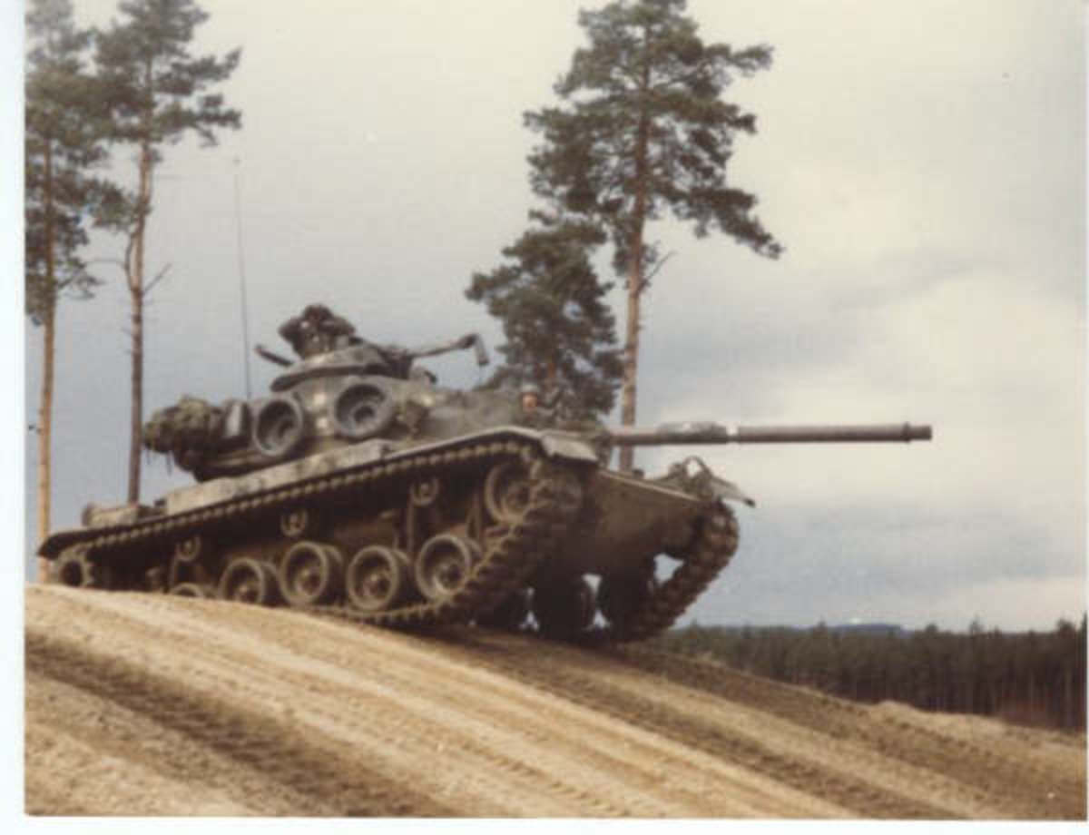 A 2nd Cav M60A1 in Dual-Texture Gradient Camouflage.
