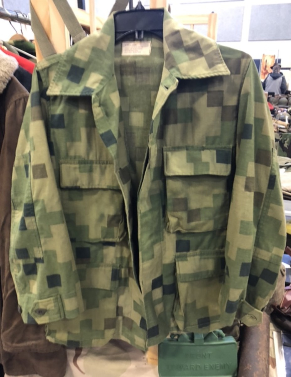 A member of the US Militaria Forum spotted this jacket in Dual-Tex camouflage at a show in the 1990s. Does anyone have more info on Dual-Tex used for uniform camouflage during the late 1970s-early 80s?