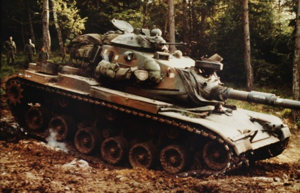 M60 main battle tank of 3/2 Armored Cavalry.