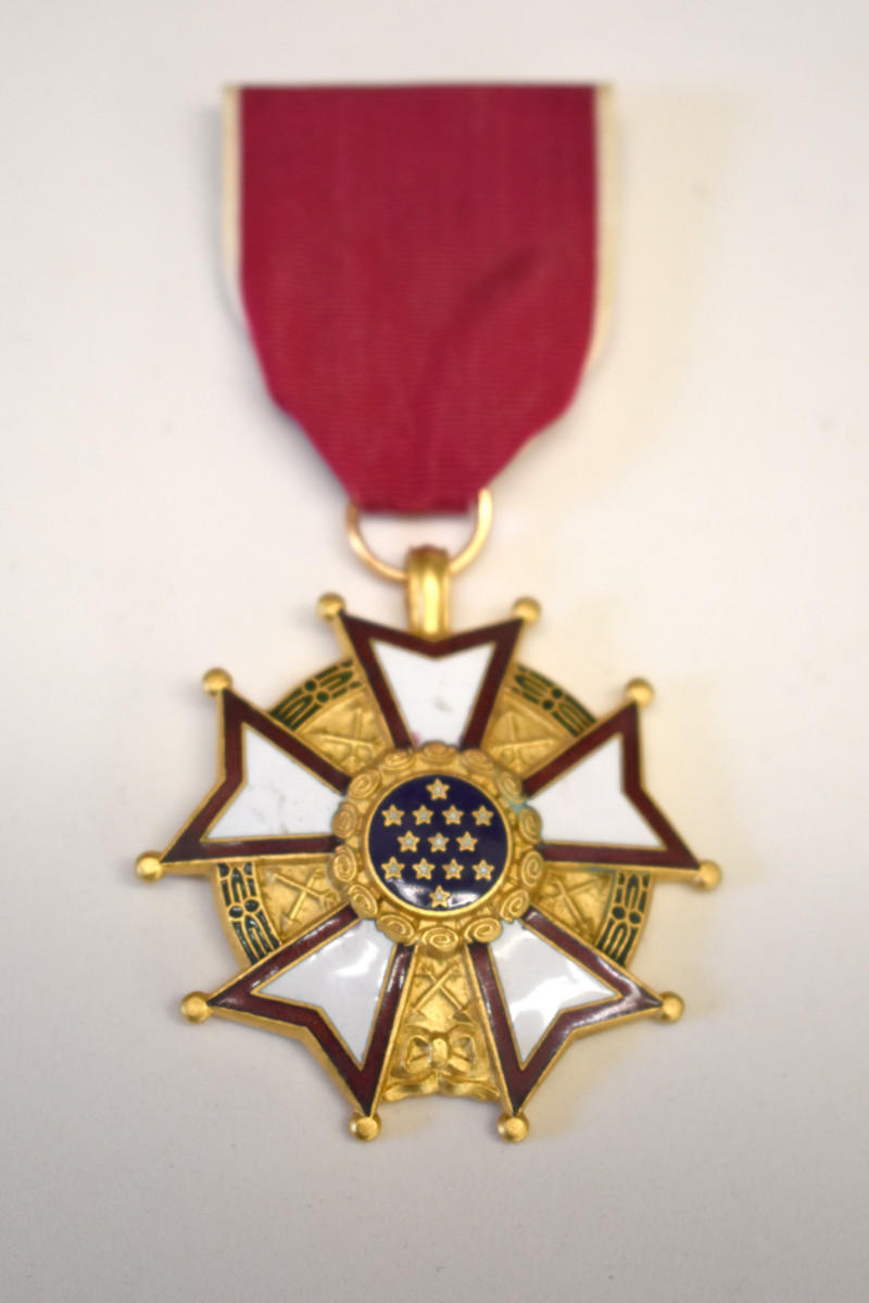 Thomas Buell's Legion of Merit awarded for his contributions to West Point and Meritorious Service.