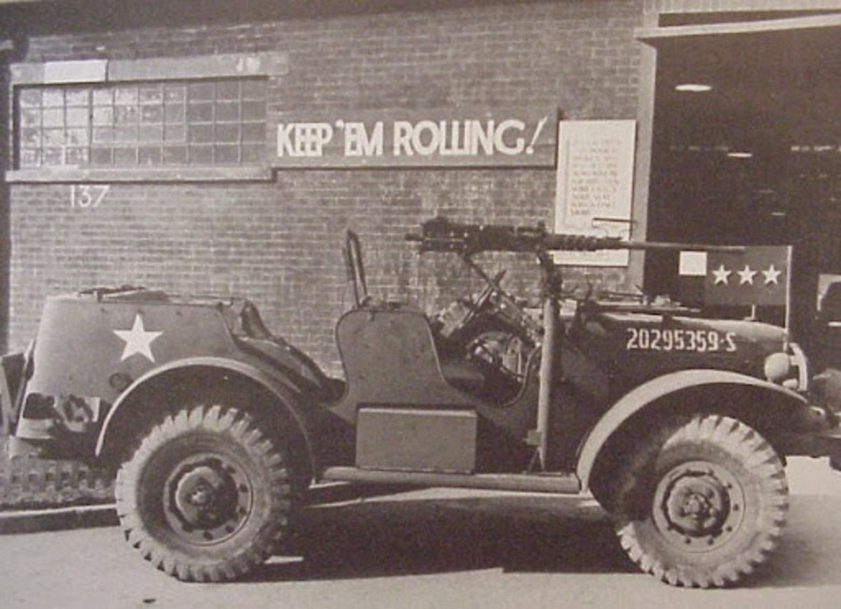 Period photo of a Dodge Command Car altered at the behest of General George Patton.