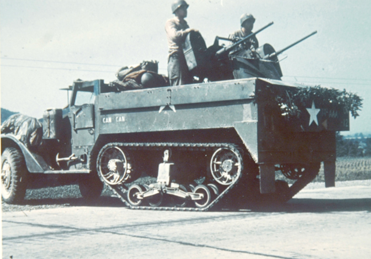 The M13 was armed with two M2 .50 caliber machine guns in a power-operated turret.