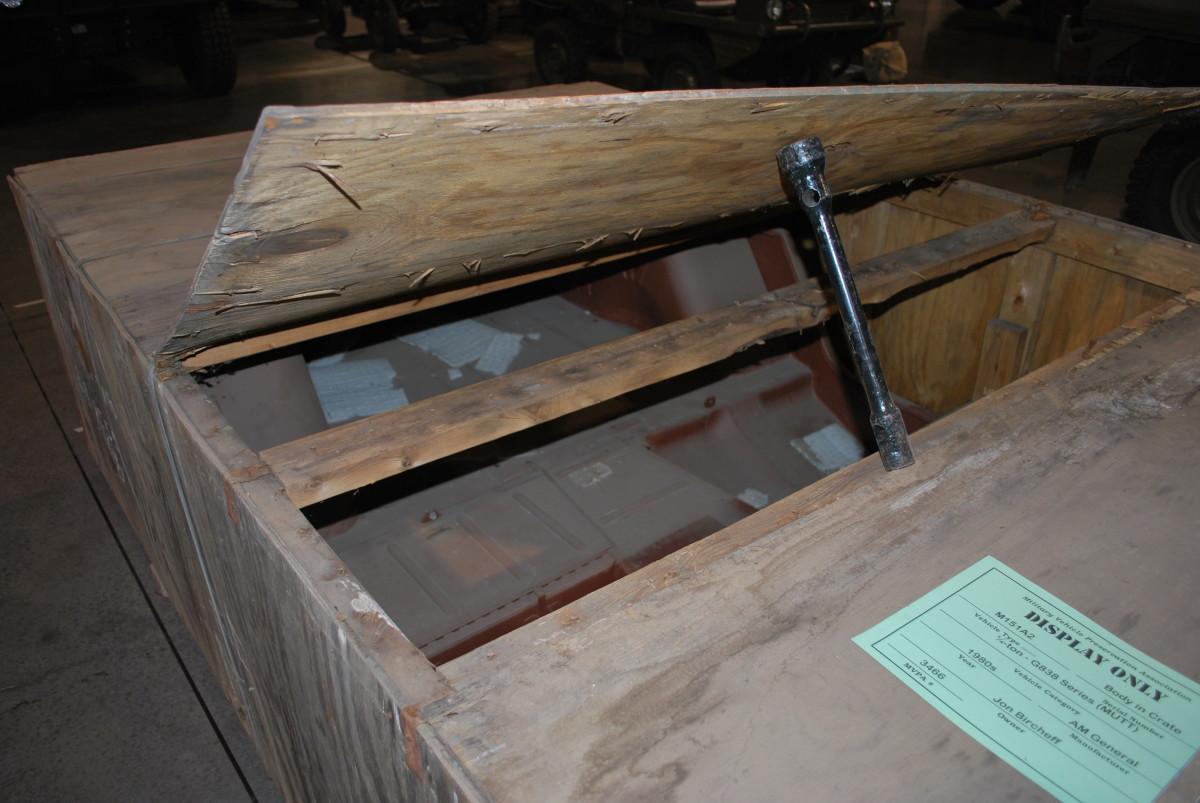 """John Bircheffe's M151A2 """"MUTT"""" in crate"""