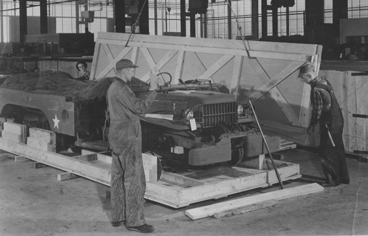 Not a Jeep either. These workmen are crating a WC-63 for shipment from the Lima Tank Depot.