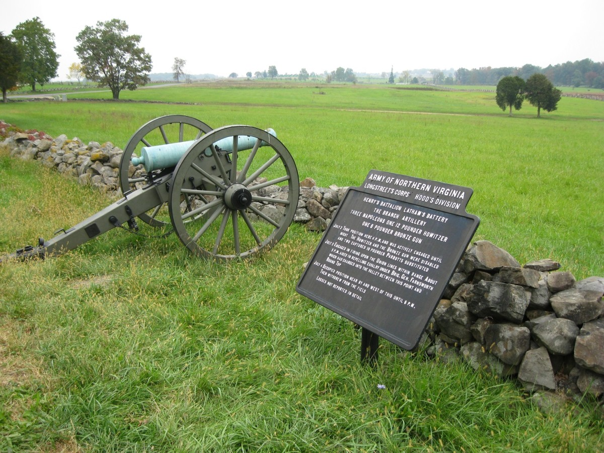 Bronze 6-pounder field gun is at Gettysburg National Military Park.