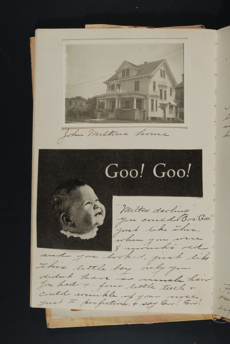 Page from the baby book of John Milton Graf, Caledonia, Minnesota, ca. 1921