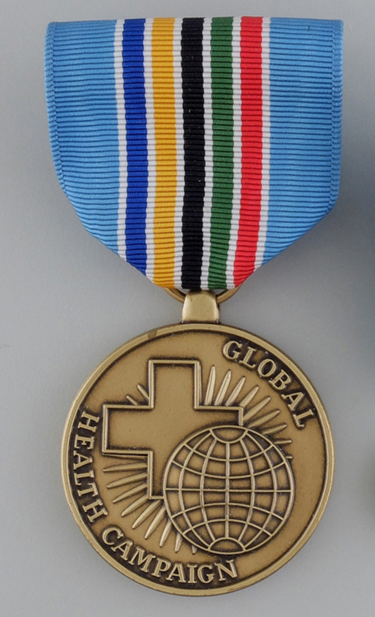 The Global Health Campaign Medal is one of the newest awards authorized for members of the U.S. Public Health Service Commissioned Corps. It represents the Corps' global reach.