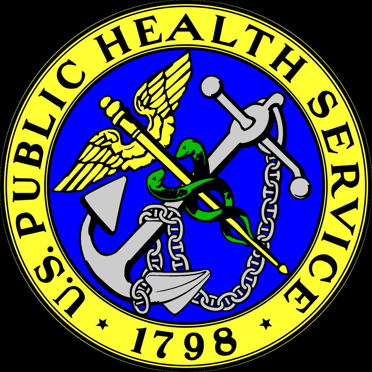 Logo of the Public Health Service, established 1798